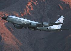 RC-135 Taking Off - CFM56 powered Rivet Joint airframe. When Rivet Joint comes on station it's about to get real