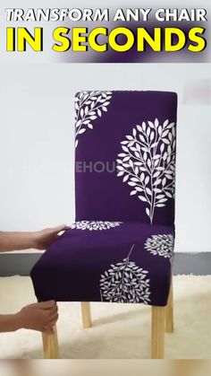 Refurbish Your Dining Room Set! Protect new chairs or refurbish your old ones with our EasySlip Chair Cover, taking less than 1 minute to install, it universally fits any single seat. Home Projects, Home Crafts, Diy Home Decor, Interior Design Living Room, Living Room Decor, Bedroom Decor, Diy Casa, Dining Room Sets, Home Hacks