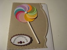 Stampin Up Card Handmade Lollipop Card
