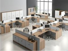 A well designed office cabin can do wonders. For one thing the employees like being there and it is instrumental in increasing the quality . Office Cubicle Design, Open Office Design, Office Designs, Office Furniture Design, Office Interior Design, Office Interiors, Office Organization At Work, Office Ideas, Corridor Design