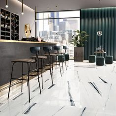Pure - Gruppo Cerdisa Ricchetti Marble Effect, Chesterfield, Tiles, Ceramics, Pure Products, Interior, Public Spaces, Furniture, Home Decor