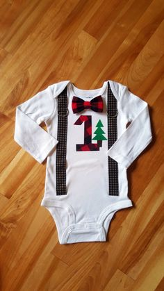 LumberJack Baby Boy Tie Bodysuit with Suspenders, Lumberjack First Birthday, Baby Boy Lumberjack, Buffalo Plaid, Red Black Check, Cake Smash by shopantsypants on Etsy https://www.etsy.com/listing/261730970/lumberjack-baby-boy-tie-bodysuit-with