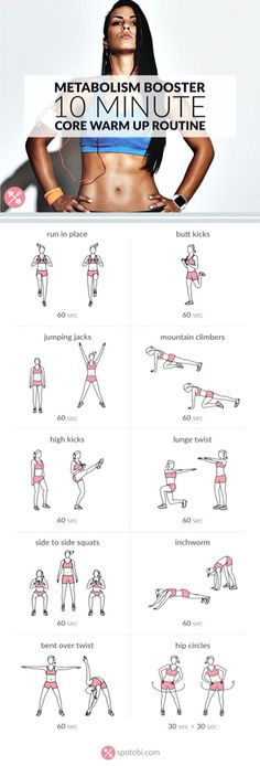 Body: 10 minute core warm up routine