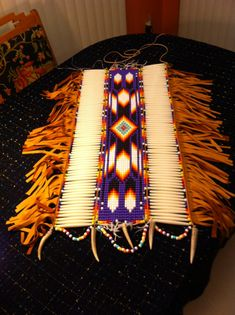 Native American Purple Feather Spirit PowWow by MichelesMenagerie2, $399.00 Native American Crafts, Native American Design, Native American Clothing, Native Design, Native American Regalia, Native American Beadwork, Native Beadwork, Pow Wow, Native Indian