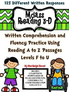 Need to help your students become critical readers and writers. Do your students need practice with the written portion of the written TRC or other written comprehension questions? This set of written response activities uses 123 differentiated fluency passages from Reading A-Z based on student guided reading levels which allows students to work on their independent reading levels, build reading fluency, and work on written response questions.