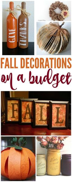 How to Make Fall Decorations on a Budget! DIY Ideas and simple crafts for Fall a., DIY and Crafts, How to Make Fall Decorations on a Budget! DIY Ideas and simple crafts for Fall and Thanksgiving! Thanksgiving Diy, Cheap Thanksgiving Decorations, Fall Decorations Diy, Autumn Decorating, Decorating Ideas, Ideias Diy, Fall Projects, Diy Projects, Diy Décoration