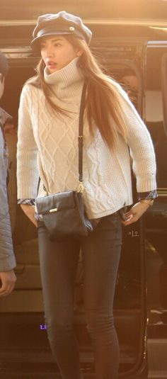 Orange caramel Nana airport fashion, love it!
