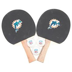 Miami Dolphins NFL Ping Pong Paddle and Ball Set (2 Paddles and 3 Balls)