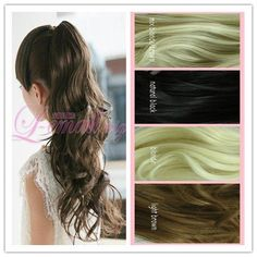 50cm Long Mix Blonde/brown Big Clip on Ponytail Hairpiece Extension Wavy Pj18 by yi wu zi ping wigs Co.LTD. $14.74. 50cm Long 4 Colors Big Clip on Ponytail Hairpiece Extension Wavy Pj18. Color:mix blonde/brown         EST. SHIPPING WT. : 200g  Fiber: Synthetic, High Quality Synthetic Japanese Kanekalon  Cap Construction: Capless  Cap Size: Average