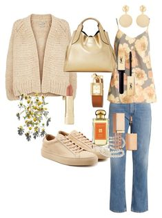 """""""Untitled #304"""" by valeria-coroianu on Polyvore featuring Vince, Acne Studios, Raey, Common Projects, Lanvin, Mounser, Tory Burch, DaVonna, Axiology and Stila"""