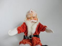 VINTAGE santa claus shelf DOLL wired / bendable by buyoldschool, $12.00