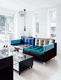 A Colourful sofa//