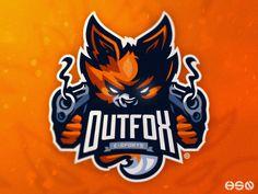 OUTFOX E-SPORTS designed by HSSN DSGN. Connect with them on Dribbble; Cartoon Icons, Cartoon Art, Mascot Design, Logo Design, Esports Logo, Hipster Logo, Sports Team Logos, Game Logo, Animal Logo