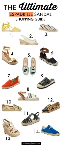 Summer Fashion: The espadrilles shoes trend is a hot accessory to wear from now and til the end of summer. See our top picks!
