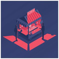 A small collection of isometric illustrations I've made of the past year. Practicing with different colour palettes and soft grain textures in Illustrator and Photoshop.