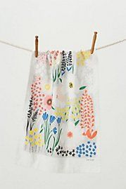 Colorful floral hand towels from Anthropologie