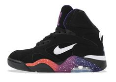 Nike Air Force 180 High Black/White-Court Purple-Rave Pink #sneaker #nike #airforce180 #purplerave