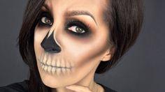 Easy Skull l Halloween makeup tutorial l Minimal products used