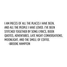 Wall Quote Decal I Am Pieces Brooke Hampton Quote   Etsy