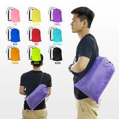 10 Colors Fast Inflatable Lazy bag Air Sleeping Bag Camping Portable Air Sofa Beach Bed Air Hammock Nylon Banana Sofa Lounger #Affiliate