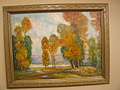 Vintage Mabel Remmers fine are painting for sale at More Than McCoy at http://www.morethanmccoy.com