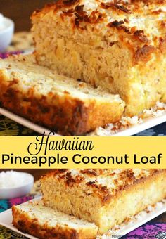 The island flavors in this Hawaiian Pineapple-Coconut Loaf cake make it a spectacular choice to enjoy alongside a cup of Joe or hot tea. Coconut Loaf Cake, Coconut Bread Recipe, Coconut Cupcakes, Cheesecake Cupcakes, Coconut Cookies, Coconut Recipes, Mini Cupcakes, Loaf Recipes, Cake Recipes