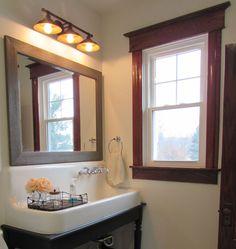 Talon Construction Frederick MD Farm Sink In Remodeled Bathroom - Bathroom construction near me