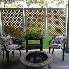 Make your own privacy screen for your patio or porch- it's easier than you think!