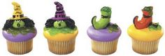 Witch's Hat and Boots Shaped Halloween Cupcake Toppers by DecoPac
