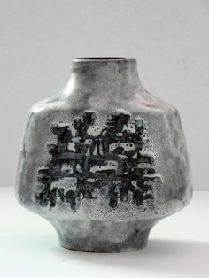 Carstens Mid Century Grey Rectangular Fat Lava Abstract West German Vase by PasterCorte on Etsy