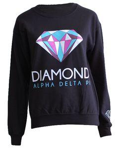 Alpha Delta Pi Diamond Crewneck by Adam Block Design | Custom Greek Apparel & Sorority Clothes | www.adamblockdesign.com