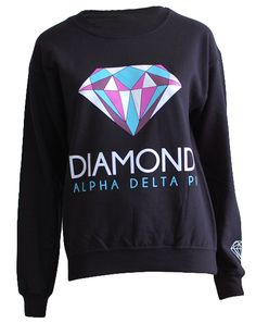 Alpha Delta Pi Diamond Crewneck by Adam Block Design | Custom Greek Apparel & Sorority Clothes | www.adamblockdesign.com