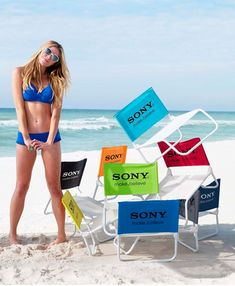Wave Rider Beach Chair - $20.00/each with a ONE color imprint