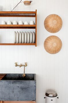 O Canada: Mjölk's Renovated Scandi-Style Cabin on a Lake (Remodelista: Sourcebook for the Considered Home) Home Interior, Kitchen Interior, Kitchen Decor, Kitchen Design, Interior Design, Kitchen Sink, Kitchen Black, Modern Interior, Le Logis