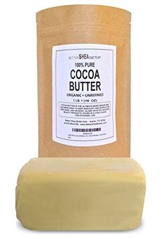 Organic Cocoa Butter - Includes a FREE Body Butter Recipes eBook - Incredible Natural Cocoa Scent - High in Anti-Oxidants and Fatty Acids - Moisturizing and Anti-Inflammatory - Reduces the Appearance of Stretch Marks - Melt it and Mix it with Raw Shea Butter and other Natural Oils in Your Own Body Butters, Lotion Bars, Lip Balm and Other Natural Skincare Recipes - 1LB (16oz) Better Shea Butter