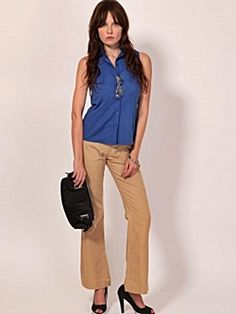 Fashionable beige trousers for women to wear to work or a formal setting.  http://www.formalworkattire.com/formal-trousers-for-women/  #formal trousers #formal pants #women's trousers #trousers for women #work trousers #professional trousers #work attire