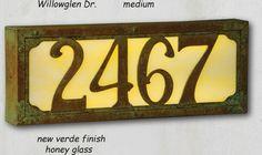 Medium Art & Crafts Lighted Address Sign