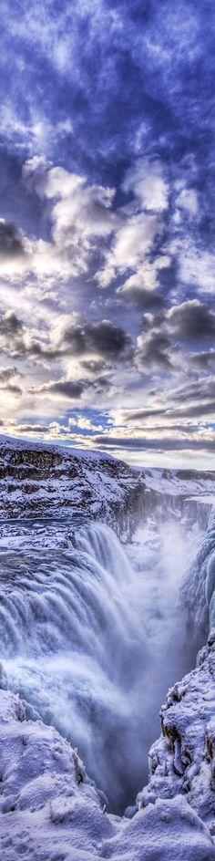 Gulfoss, the frozen waterfall in Iceland