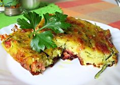 Cukeťák z plechu Vegan Recipes, Cooking Recipes, Gaps Diet, Vegetable Recipes, Quiche, Side Dishes, Zucchini, Clean Eating, Paleo