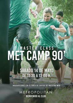 Este sábado, 14 de mayo de 11:30 a 13:00 h., os esperamos en la Master Class especial Met Camp 90' en Metropolitan Aqua. ¿Te apuntas? Inscripciones en el área de socios de nuestra web.