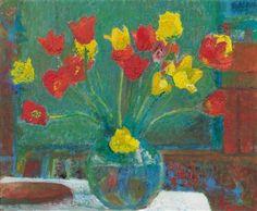 AMIET, Cuno Swiss Post-Impressionism (1868-1961)_Bouquet of tulips  1960