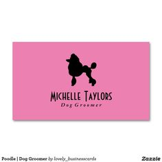 Poodle   Dog Groomer Standard Business Card #doggroomer #petlover #showroom #dogtrainer