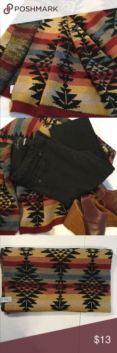 NEW LISTING NWT American Eagle Scarf❤️❤️❤️❤️ NWT American Eagle scarf. Please see pics for best description of colors and pattern. The last pic also shows fabric content . The jeans are also for sale on another listing American Eagle Outfitters Accessories Scarves & Wraps