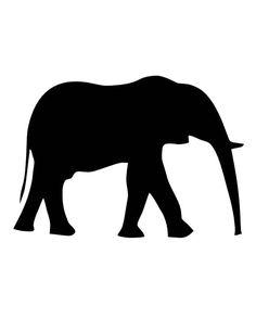 Adult African Elephant w/ Tusks Walking 1 Silhouette Permanent Vinyl Car Decal Elephant Stencil, Elephant Outline, Elephant Silhouette, Silhouette Clip Art, Animal Silhouette, Elephant Art, African Elephant, Animal Outline, Elephant Trunk