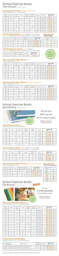 School Exercise Books (Info for Schools) - Camphill Press Shop