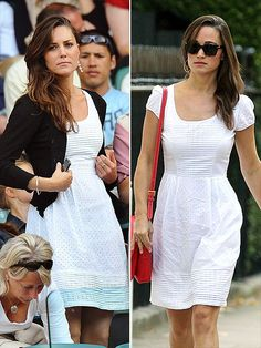Both of them can take something so simple like a white dress and then totally rock it with their own styles.