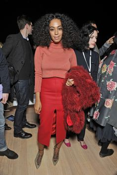 Solange Knowles Front Row at Carven RTW Fall 2015 [Photo by Stéphane Feugère]