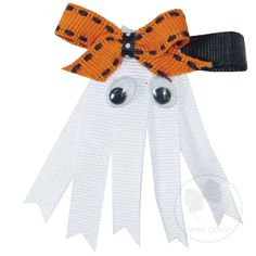 Sparkly Ghost with Bow Hair Clip $8.50 #halloween