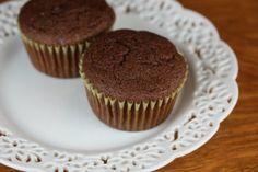Double chocolate gluten free muffin [[ yum yum yum - tastes like a cupcake! ]]