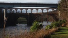Three bridges cross the River Tweed. photo y Mal Young